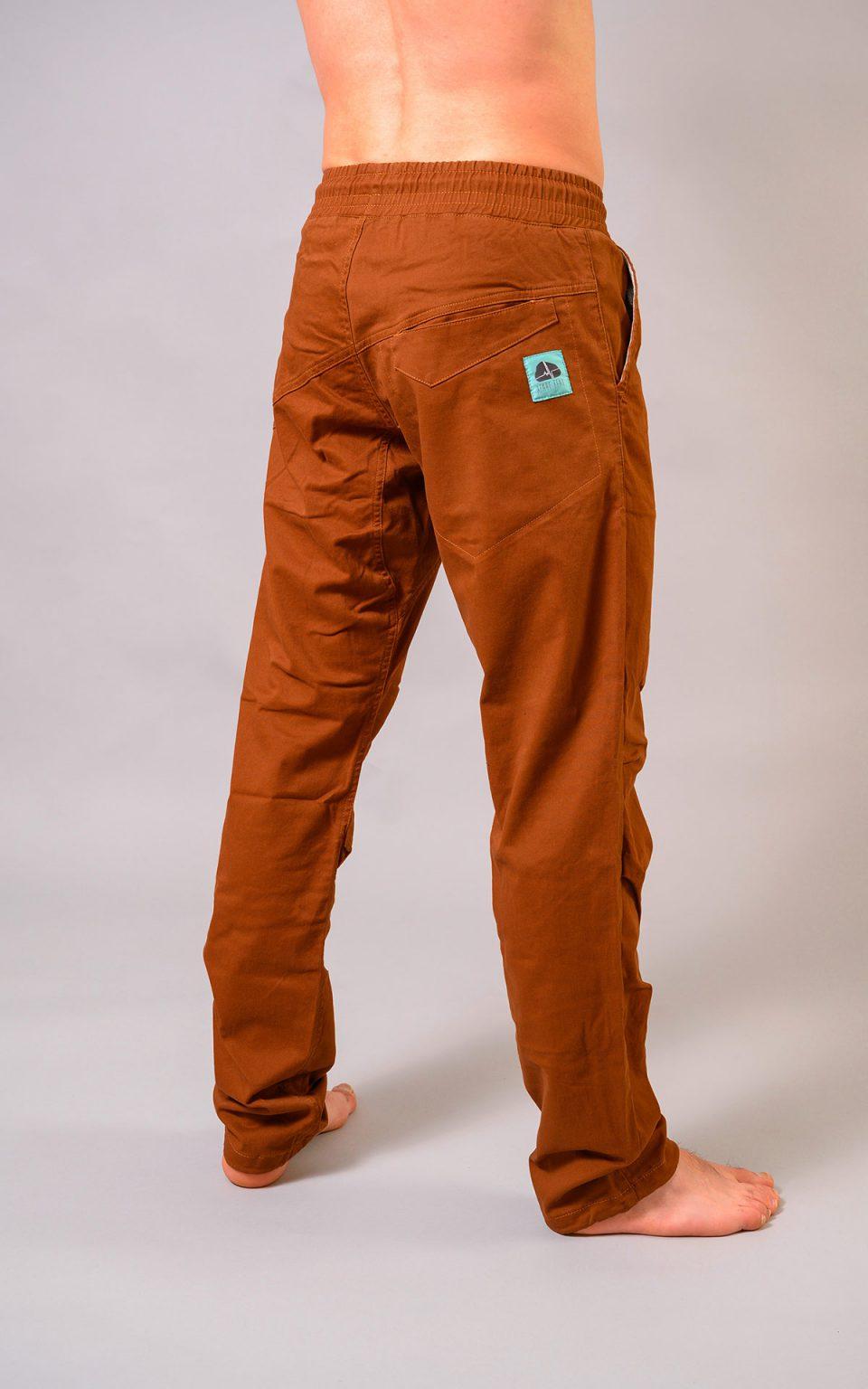 Spodnie Cotton Crosscut- brązowe