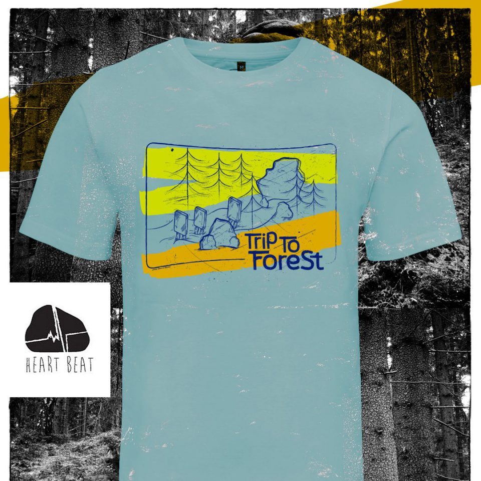 """""""Trip to forest"""" t-shirt -limonkowy"""