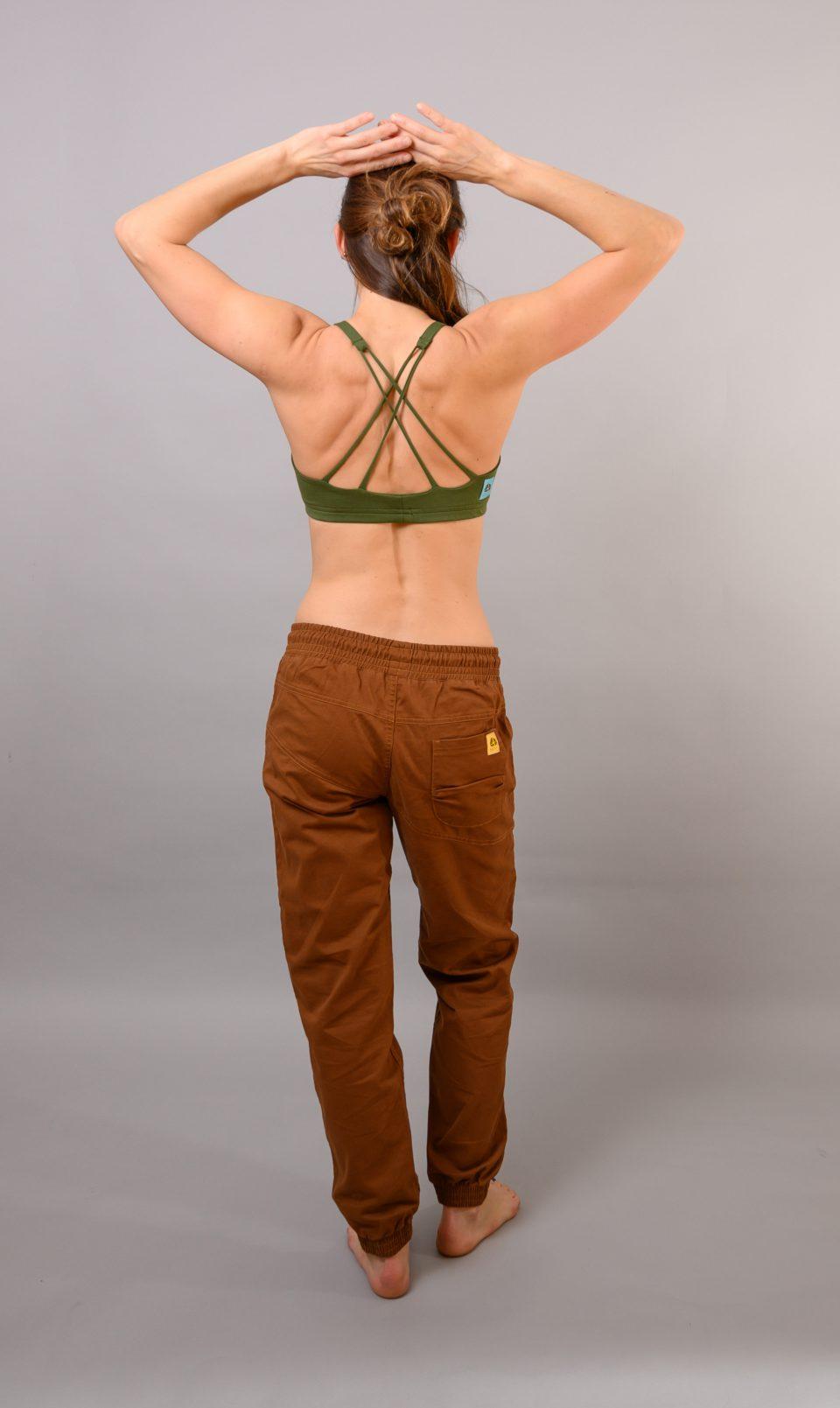 Spodnie Cotton Crosscut - brązowe