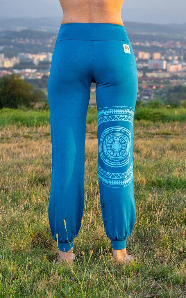 """Spodnie """"mandala""""  - niebieskie"""