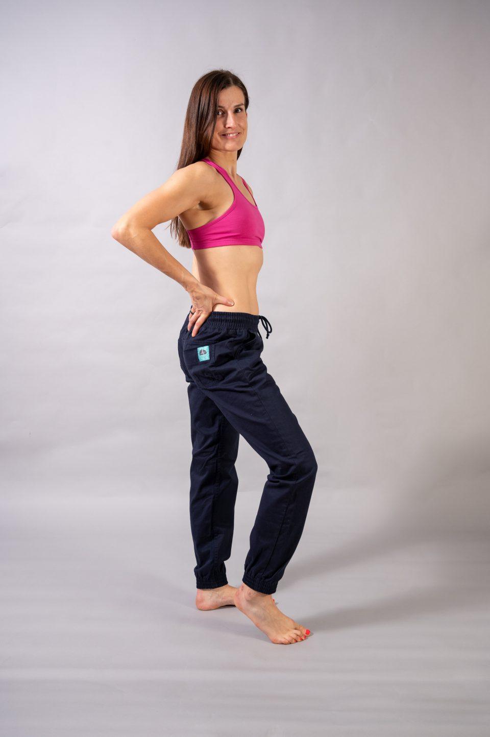 Spodnie Cotton Classic- granatowe