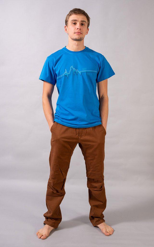 Logo t-shirt - niebieska