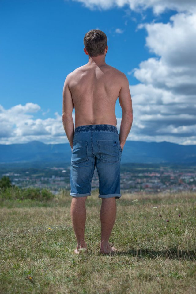 Shorty Classic man - light blue jeans